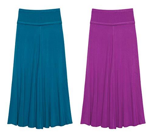 KIDPIK Raw Edge Maxi Skirt Blue Sapphire-Sparkling Grape M (10)