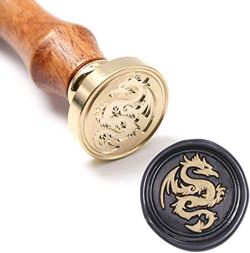 UNIQOOO Arts & Crafts Flying Dragon Wax Seal Stamp- Great for Embellishment of Envelopes, Party Invitations, Wine Packages, Snail Mails, Christmas Gift Idea for Movie Lover