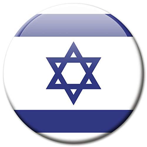 Kühlschrankmagnet Flagge Israel Magnet Länder Flaggen Reise Souvenir für Kühlschrank stark groß 50 mm
