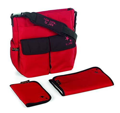 Jané Mama Bag Bolso Cambiador con Portadocumentos, Multiples Bolsillos, Universal, Color Red