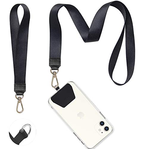 Phone Lanyard, COCASES Wrist Lanyard and Neck Lanyard for Keys ID Badge Set Phone Tether for iPhone, Galaxy & Most Smartphones
