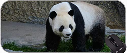 Extended Gaming Mauspad, Onesie Animal Panda Professional Mousepad, genähte Kanten