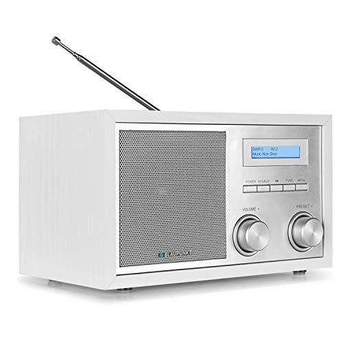 Blaupunkt RXD 180 Dab Plus Digital Radio, kleines Bluetooth Radio, Aux In, Ukw Fm Radio mit Rds, Küchenradio einfache Bedienung, Drehregler, weiß