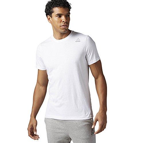 Reebok Herren Elements Classic T-Shirt, White, M