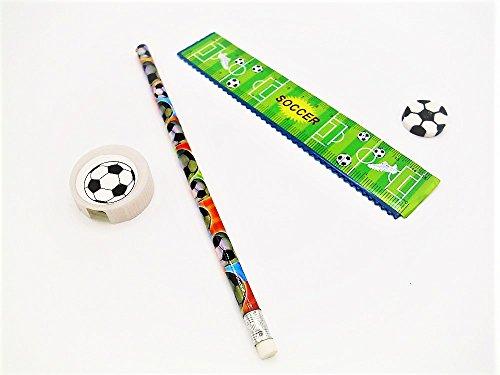 12x Schreibset Fußball Mitgebsel Kindergeburtstag