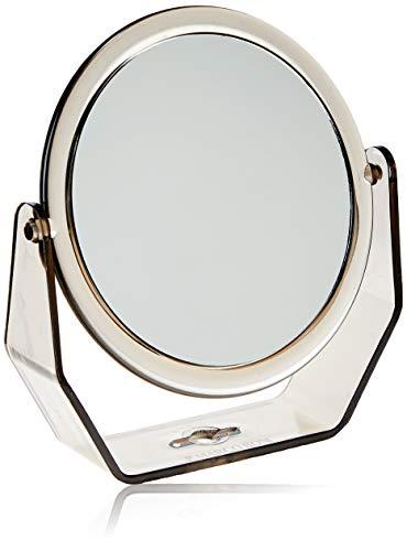 Espelho Grande Dupla Face Com Base De Apoio Em Plástico, Marco Boni, Preto