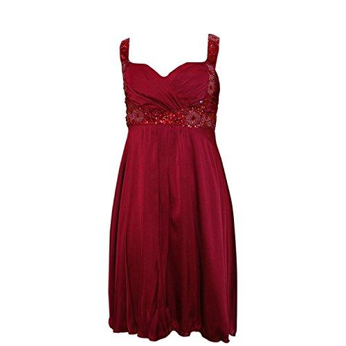 JuJu & Christine - Abendkleid Festkleid Mädchen Kleid, rot, Größe 34