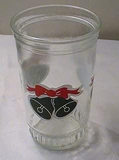 Vintage BAMA Jelly Jar Christmas Bell Glass