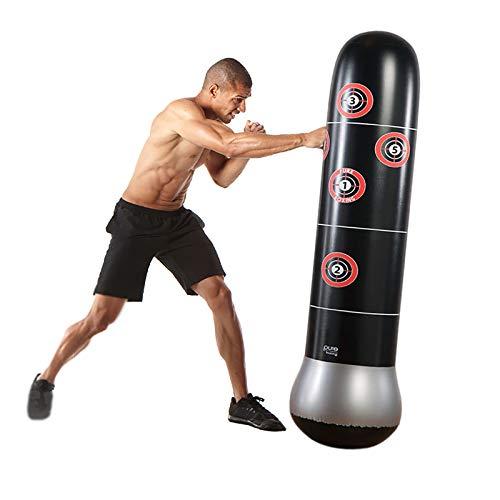 WILK Soporte Boxsack Stehend, Standboxsack Kinder, Druckentlastungs Boxball Zum Üben von Karate, Taekwondo, MMA
