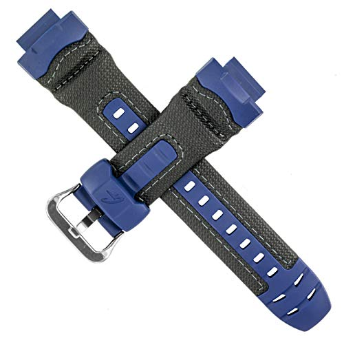 CASIO - Correa de reloj Casio para G-7710RL-2V G-7710 G7710RL G7710, color azul