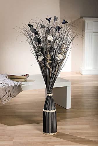 """Dekobündel """"Anthrazit"""" aus Naturmaterialien, ca. 100 cm hoch, grau/schwarz"""