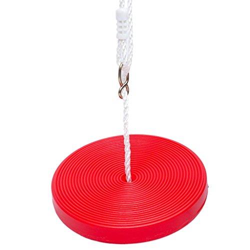 Ailin home- Jouets pour enfants Suspension ronde en plastique pour enfants, Suspension de siège, coussin gonflable pour enfant Ensemble de balançoire sécurité sécurisé pour enfant - Convient pour 4-7 ans