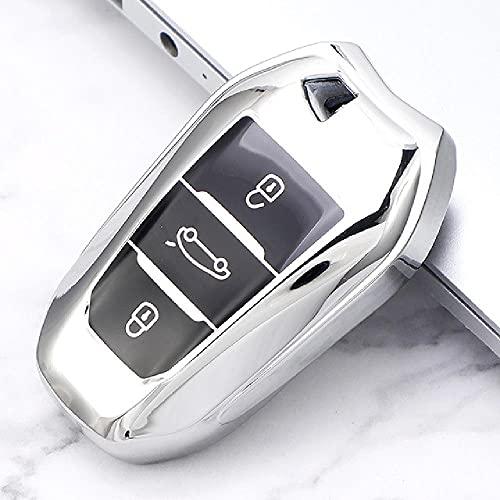 TGBVSoft TPU Funda para Llave de Coche Cubierta Completa para Peugeot 308408508 2008 3008 4008 5008 Citroen C4 C4L C6 C3-XR Accesorios de Carcasa Inteligente
