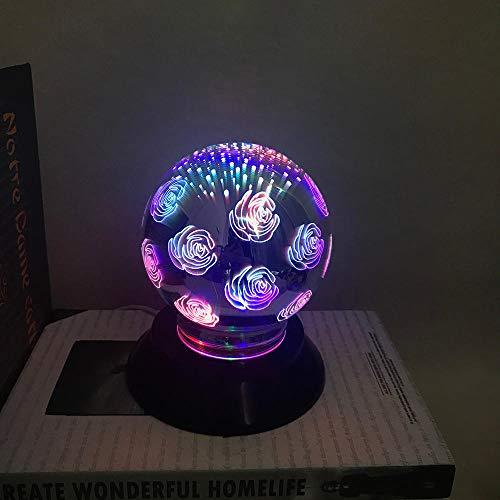 Nachtlichter Schlummerleuchten Innenbeleuchtung Leuchten für Kinder Art und Weise LED 3D magisches Licht USB, das LED auflädt Buntes magisches Licht 3D Hauptpartei-Dekoration-Projektionslichter-D_M