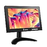 Eyoyo 8 Pulgadas IPS Monitor, 1280x720 16:9 HDMI Pantalla de Carcasa Metálica con Control Remoto& Soporte de Pared & Entrada de HDMI/VGA/AV/BNC para PC,CCTV,Cámara de seguridad,Raspberry pi