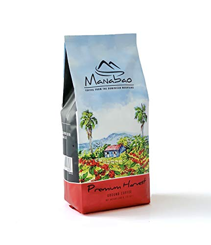 Manabao Premium Harvest Dominican Ground Coffee 12 oz