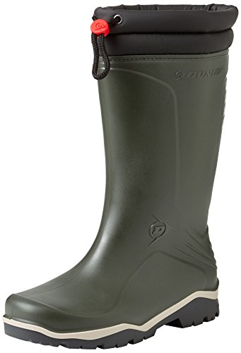 Dunlop Blizzard gefütterte Herren Gummistiefel, Grün (Green/Grey/Black ), 39 EU
