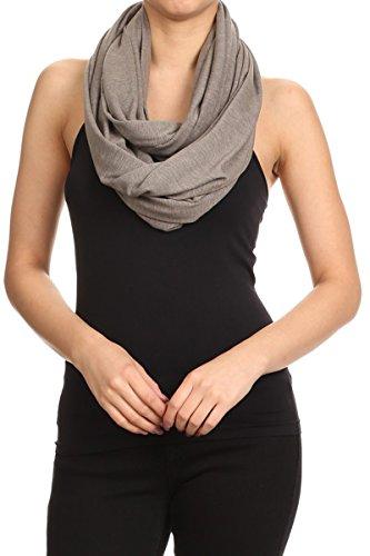 HeyHun Women's Multi-Wear Convertible Wrap Scarves - Taupe Brown