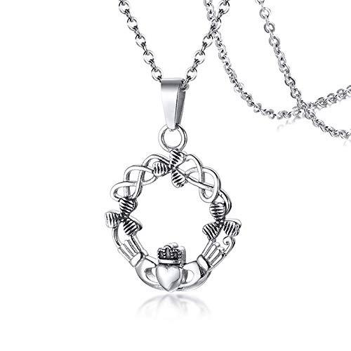 NA Collar para Mujer Cesta de Flores Collares de Acero Inoxidable Cadena...