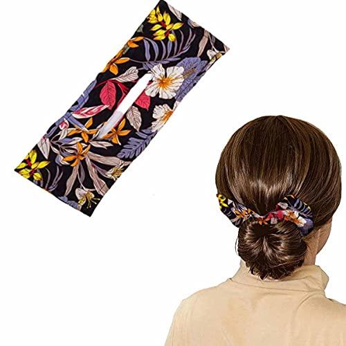 Deft Bun Hair Bun Maker, Deft Bun Makers per Capelli Magic Hair Bun Maker French Twist Hair Styling Tool, Fascia per Capelli Annodata Estiva da Donna