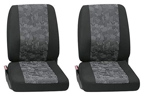 Stoelhoezen hoes 2-dlg. Autohoezen stoelbekleding VW T5 Crafter T6 Sprinter enz.