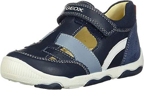 Geox New Balu' Boy B, Zapatillas con Velcro para Bebés, Azul (Navy C4002), 18 EU
