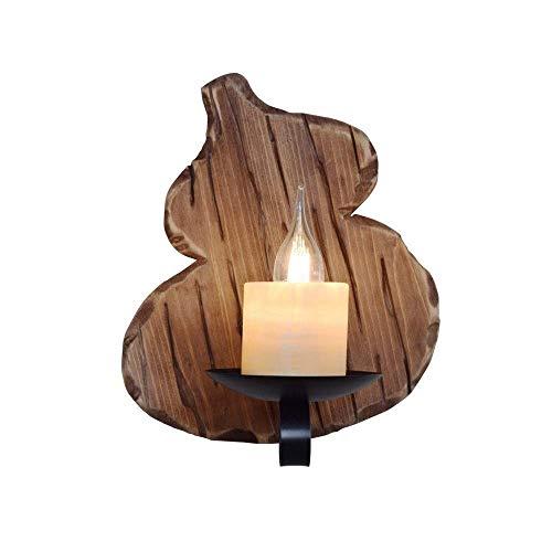 Lámpara de pared de calabaza de viento industrial retro Apliques de pared de café Sala de estar Comedor Iluminación interior Bombilla Lámparas de pared Chasis de polipasto de troncos retro Lámpar