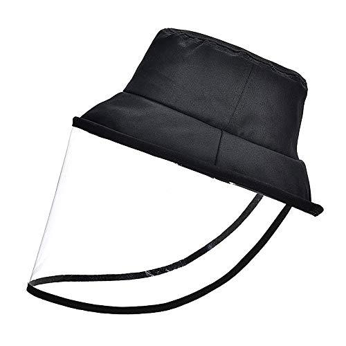 Lezed Gesichtschutz Visier Schutzhut Gesichtsschutzschirm mit Vollgesichtsschutz Schutzschild für das Gesamte Gesicht Anti-Beschlag-Staubspritzer Faltbarer Fischerhut Anti-Spray UV-Isolierung