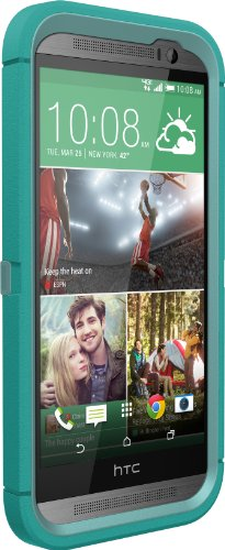 OtterBox Defender Series for HTC One M8 - Retail Packaging - Aqua Sky