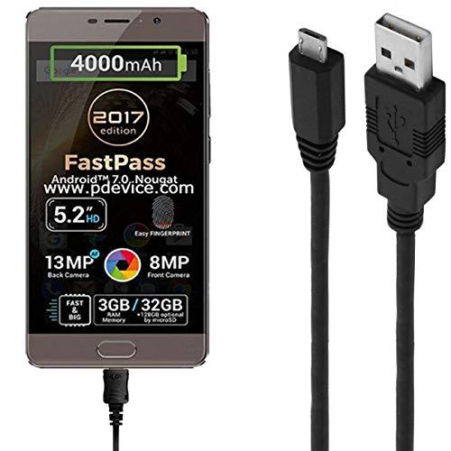 ASSMANN Ladekabel/Datenkabel kompatibel für Allview P9 Energy Lite 2017 - schwarz - 1m