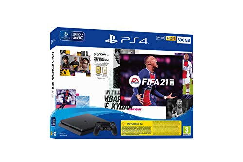 PlayStation 4 - Ps4 500Gb + Ds4 + Fifa 21
