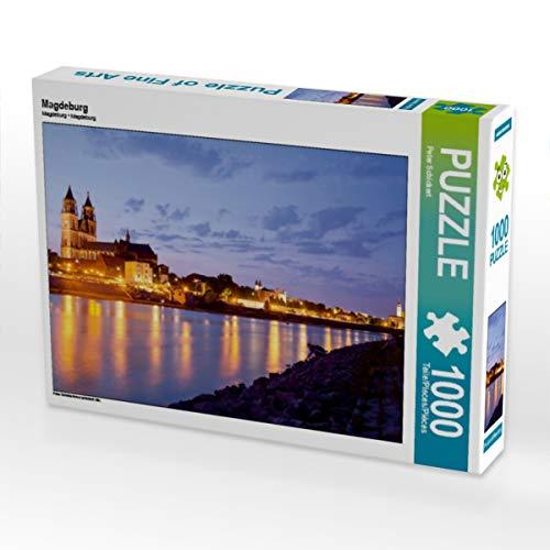 CALVENDO Puzzle Magdeburg 1000 Teile Lege-Größe 64 x 48 cm Foto-Puzzle Bild von Peter Schickert