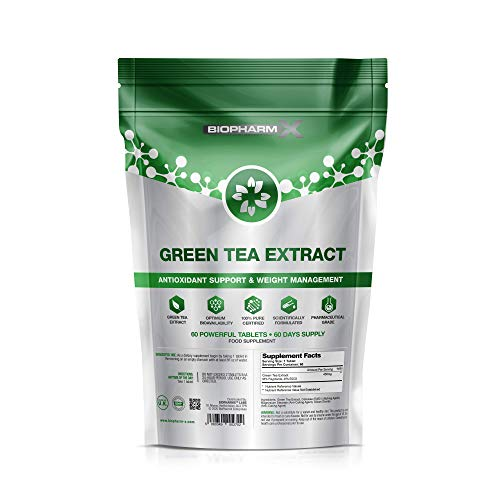 Green Tea Tablets 9000mg (60 Tablets) Strongest Legal Green Tea Extract 100% Pure Certified