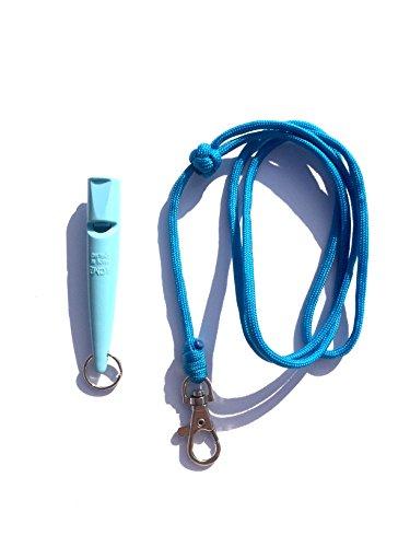 Acme 210.5 Hond Fluitje & Lanyard met Turken Hoofd Knoop 3mm in Baby Blauw