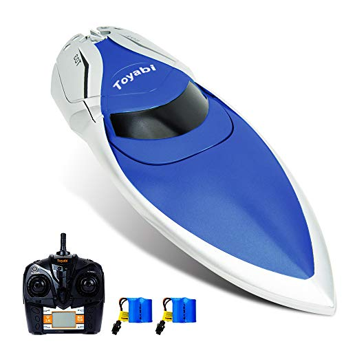 GizmoVine RC Boat High Speed (20MPH+) Remote Control Boats for Pools and Lakes with Extra Battery for Kids and Adults, 2019 Update Version (H106)