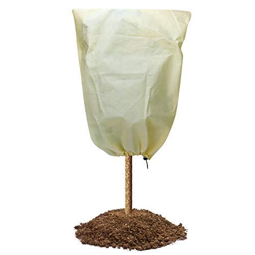 Sinwind Cappuccio Protezione Piante, Telo Antigelo Piante, Tessuto Non Tessuto Antigelo per Piante, Copri Piante Inverno per Proteggere in Inverno da Gelo, Vento e Pioggia (80 * 60cm)