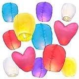 Best Sky Lanterns - 10 Sky Lanterns w/ 2 Free Heart Lanterns Review