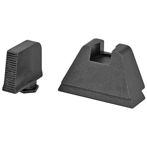 "AmeriGlo GL-506 Tall Black Serrated Suppressor .365"" Front and Flat Black .451"" Rear Sight Set"