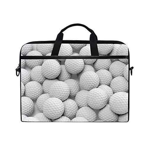 QMIN Laptoptasche, Sport-/Golfball-Muster, Computer-Hülle, Reißverschluss, Kuriertasche mit Schultergurt für 14-14,5 Zoll (35,6-36,8 cm) Dell HP Lenovo MacBook