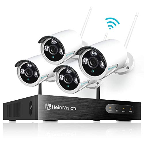 HeimVision HM241 1080P Wireless Security Camera System, 8CH NVR 4Pcs Outdoor WiFi Surveillance Camera with Night Vision, Waterproof, Motion Alert, Remote Access, No Hard Disk