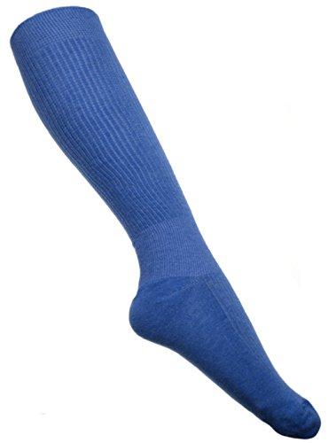 WB Socks 2 Paar Anti-TVT Kompressionstrümpfe aus Baumwolle, Socken Größe 44-47,Blau