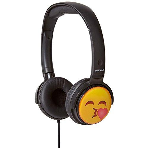 iChoose Limited Groov-e EarMOJI Cuffie Stereo per i Bambini/Bambini Ragazzi/Ragazze sopra la Orecchio Cuffia Auricolares/Bacio Faccia