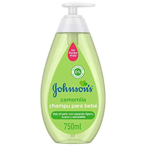 Johnson's Baby Champú con Camomila para Bebés - 750 ml ⭐