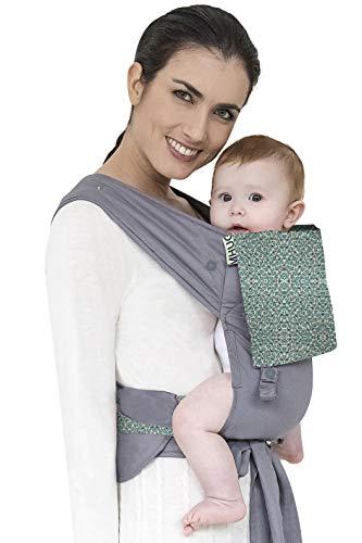 MHUG Mei Tai Babytrage, ergonomisch und patentiert, Butterfly-Variante, 100 % weiche Baumwolle, Schmetterlings-Muster und Grau