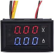 Generic YB27VA-10A Digital Voltmeter/Ammeter with Dual Display, DC 0-100V/10 Amp, Red/Blue