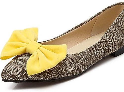 PDX femme Chaussures Talon bas Confort Bout Pointu Pointu apparteHommests Mocassins décontracté Bleu jaune rouge  grosses soldes