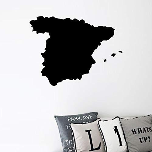 Mapa de España Silueta de Vinilo Etiqueta de Arte Inicio Decoración de Pared País Mapa España Arte de La Pared calcomanías Para Ventanas de Coches Decoración Del Ordenador Portátil 53 * 40 cm