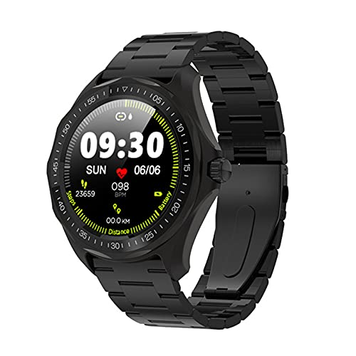 VBF Smart Watch, S09 IP68 Impermeable, Ritmo Cardíaco, Esfigmomanómetro, Mapa De GPS, Reloj Inteligente De Moda Rastreador De Fitness De Moda,E