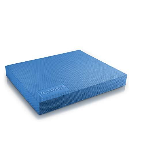 ALPHAPACE Balance Pad in Blau inkl. gratis Übungsposter - Innovatives Balance-Kissen für optimales Ganzkörpertraining - Zur Steigerung von Koordination, Gleichgewicht & Kräftigung der Muskulatur