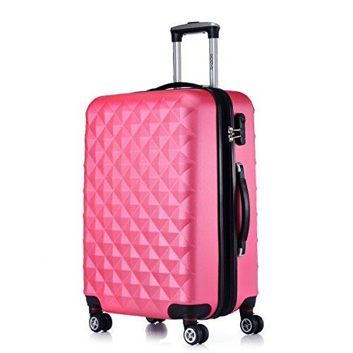 Rotelle per 2066Custodia rigida trolley valigia da viaggio bagaglio valigia da viaggio M, L, XL di set in 12colori, pesca, XL